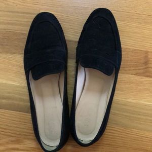 JCrew suede penny loafers